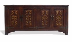 Hand Painted Torched Sideboard, Tuscany