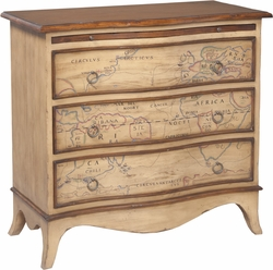 Heritage Three Drawer Chest (Map)