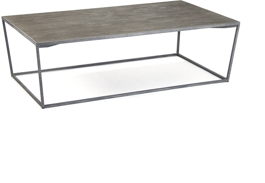 HOBART COFFEE TABLE RECYCLED OAK WITH VINTAGE METAL FRAME ZENTIQUE