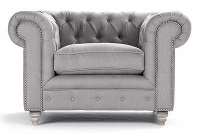 Jorden Club Chair - Grey Linen