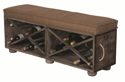 Large Wine Crate Ottoman