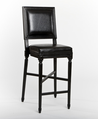 Louis Bar Stool (one pair) (black oak)