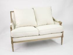 Louis Settee (Natural Oak)