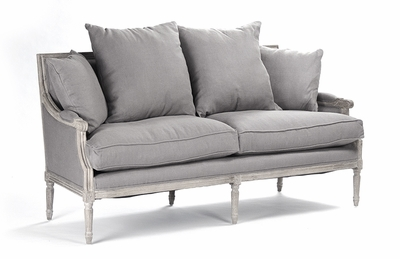 Louis Sofa - Grey Linen