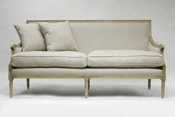 "Louis Sofa ( Two of 16"" X 16"" Pillows Included)"