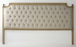 LOUIS TUFTED HEADBOARD (KING)(Natural Linen)