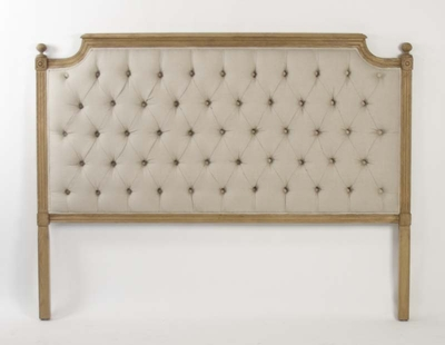 Louis Tufted Headboard (Queen)(Natural Linen)