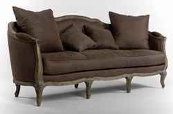 Maison Sofa (Aubergine Linen-Limed Grey Oak)