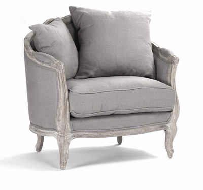 Maison Love Chair   Grey Linen