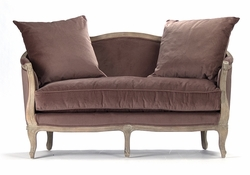 Maison Settee (Velvet-Limed Grey Oak)