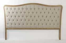 Maison Tufted Headboard (King) (Natural Linen)
