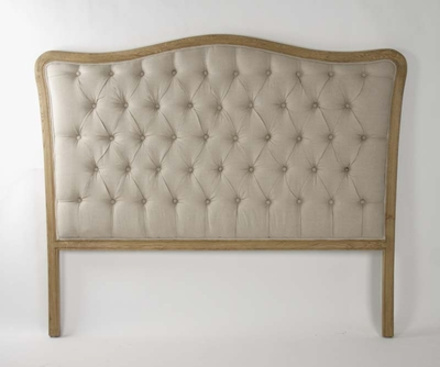 Maison Tufted Headboard (Queen) (Natural Linen)