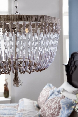 Maliblu Stoney Beaded Hanging Chandelier