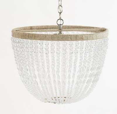 Malibu Clear Beaded Hanging Chandelier