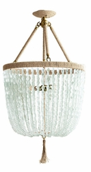 Malibu Coke Bottle Beaded Hanging Chandelier