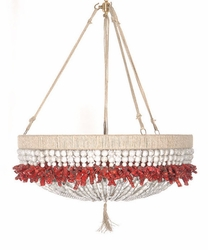 Malibu Coral Beaded Hanging Chandelier