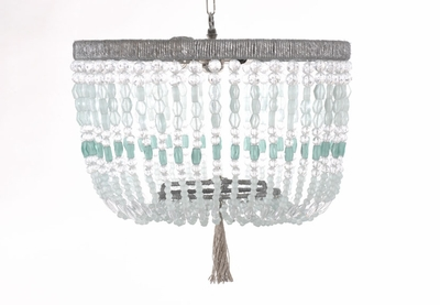 Malibu  Sea Beaded Hanging Chandelier
