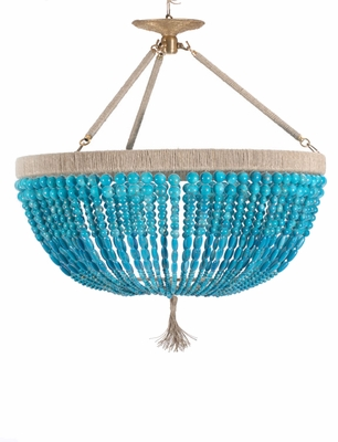 Malibu Turquoise Beaded Chandllier