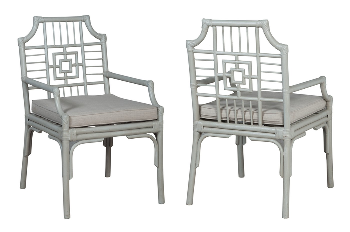 Manor Rattan Arm Chair   One Pair
