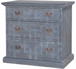 Manor Three Drawer Side Chest