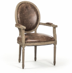 Medallion Arm Chair (Leather) - one pair