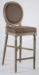 Medallion Bar Stool  (one pair) (limed grey oak)