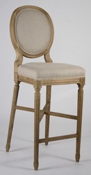 Medallion Bar Stool  (one pair) (natural oak)