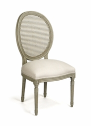Medallion Cane Side Chair - one pair