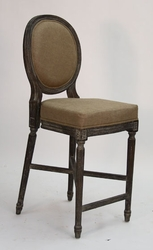 Medallion Counter Stool  (one pair) (limed charcoal oak)