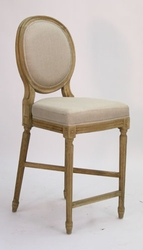 Medallion Counter Stool  (one pair) (natural oak)