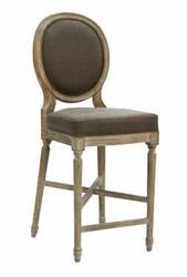 Medallion Counter Stool (one pair) (limed grey oak)