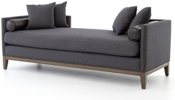 Mercury Doduble Chaise (Charcoal Felt)