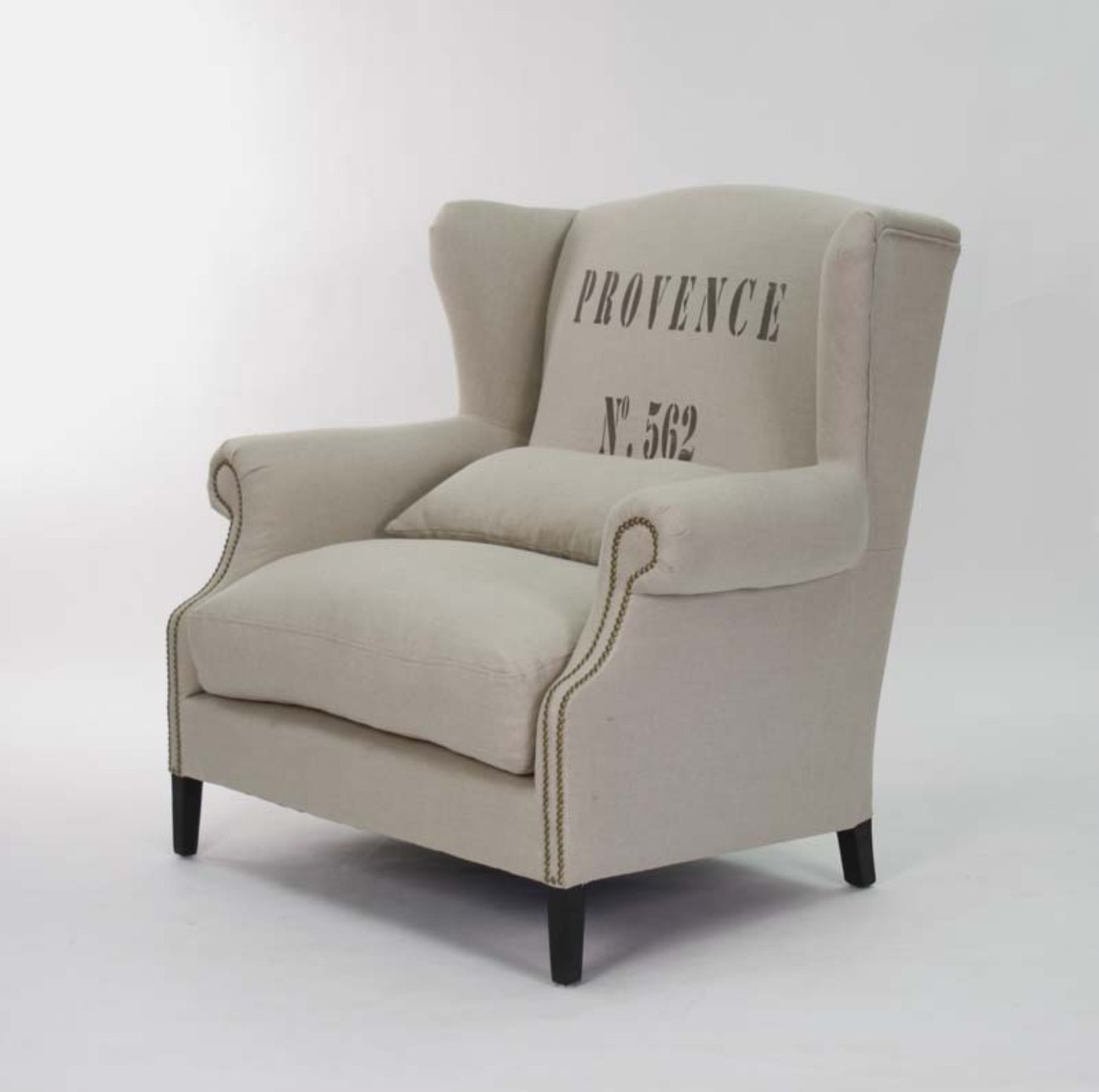 French Country Script Chairs ~ Napoleon half wingback chair provence french script