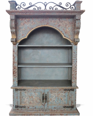 Old World French Balcony Cabinet