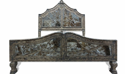 Old World French Mirror Bed