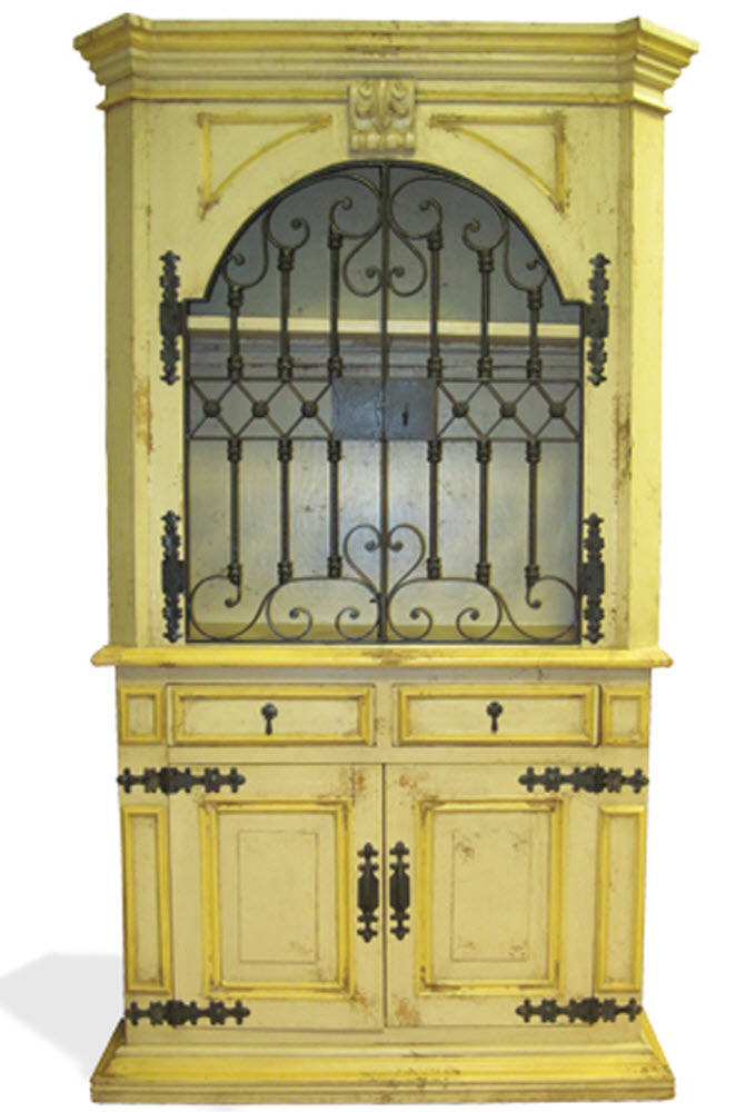 Old World Hand Painted Armoire Elena