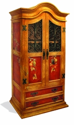Old World Hand Painted Armoire Samuel
