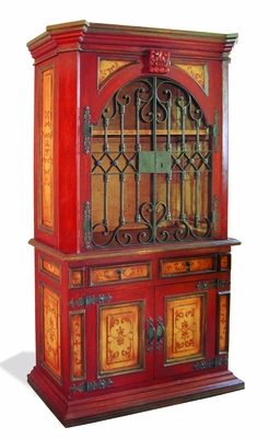 Old World Hand Painted Hutch Elena