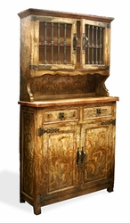 Old World Hand Painted Hutch Otto