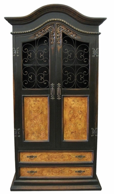 Old World Hand Painted Armoire Samuel Black