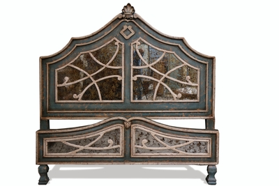 Old World Mediterranean Mirror Bed