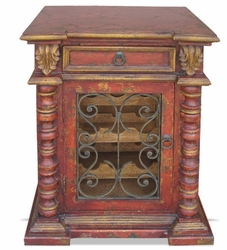 Old World Wine Cabinet, Red