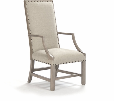 Oleg Arm Chair (Linen/Burlap-Driftwood)