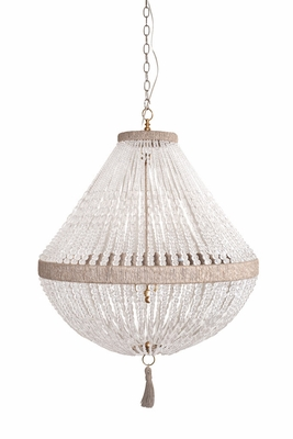Orbit Beaded Hanging Chandelier