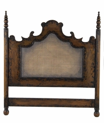 Queen Headboard with Caned Inset