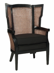 Rattan  Sofa Chair with Black Color on Frame