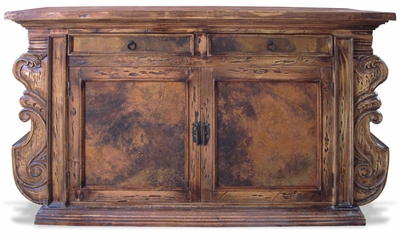 Reclaimed Oak Manchester Buffet with Copper Panels