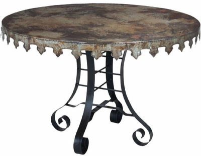 "Reclaimed Tin 47"" Bistro Table"