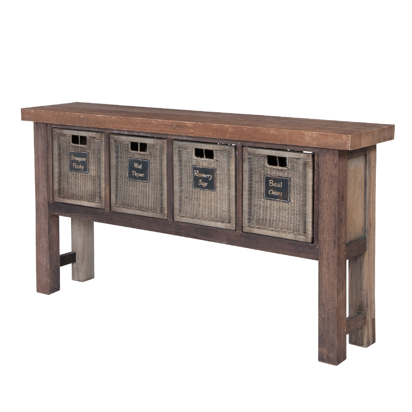 RECLAIMED WOOD WORKTABLE BASKETS GUILDMASTER WORKTABLE - Reclaimed wood work table