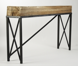 Recycled Wood Top Console